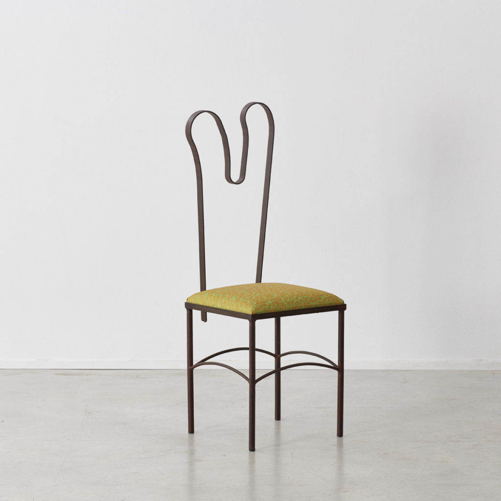 Milos Gras sculptural chairs