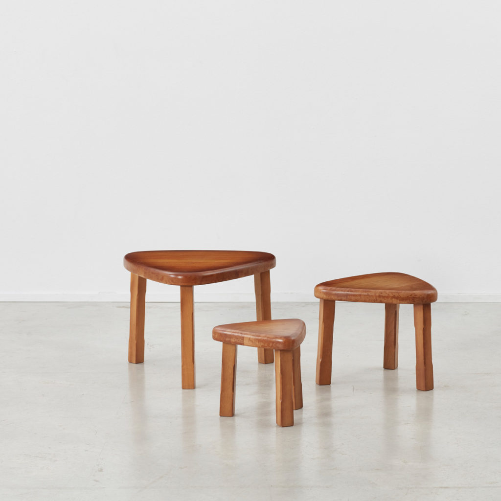 Trio of Brutalist nesting tables