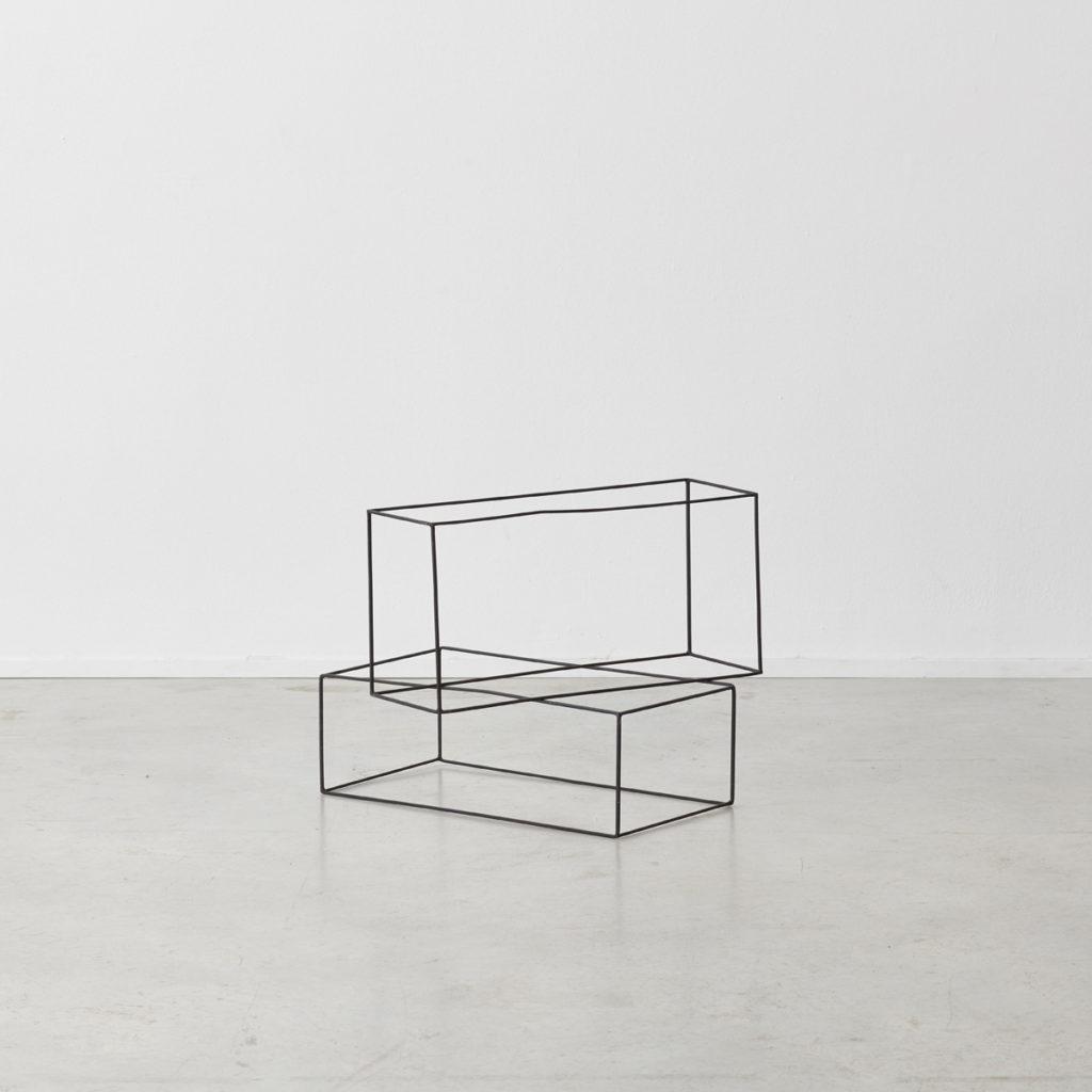 Minimalist wire frame sculptures