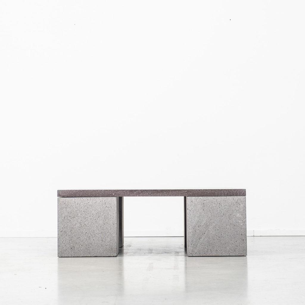 Lava stone Sculptor's coffee table