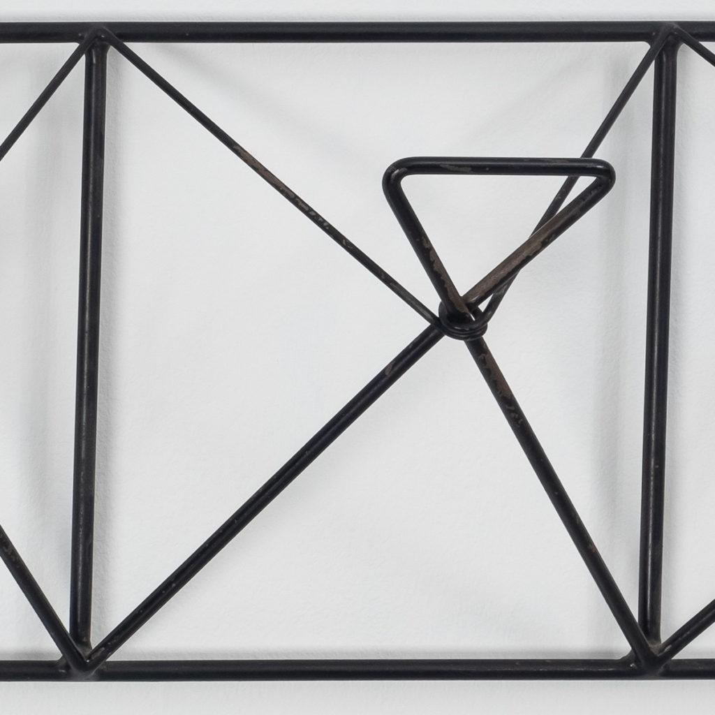 Large wrought iron coat hanger