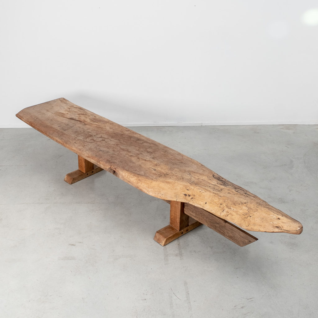 Ancient wooden bench