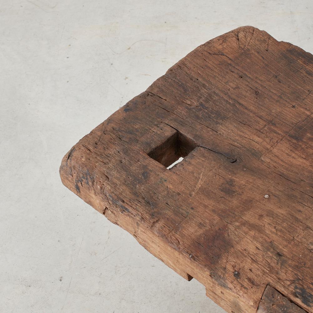 Primitive wooden bench