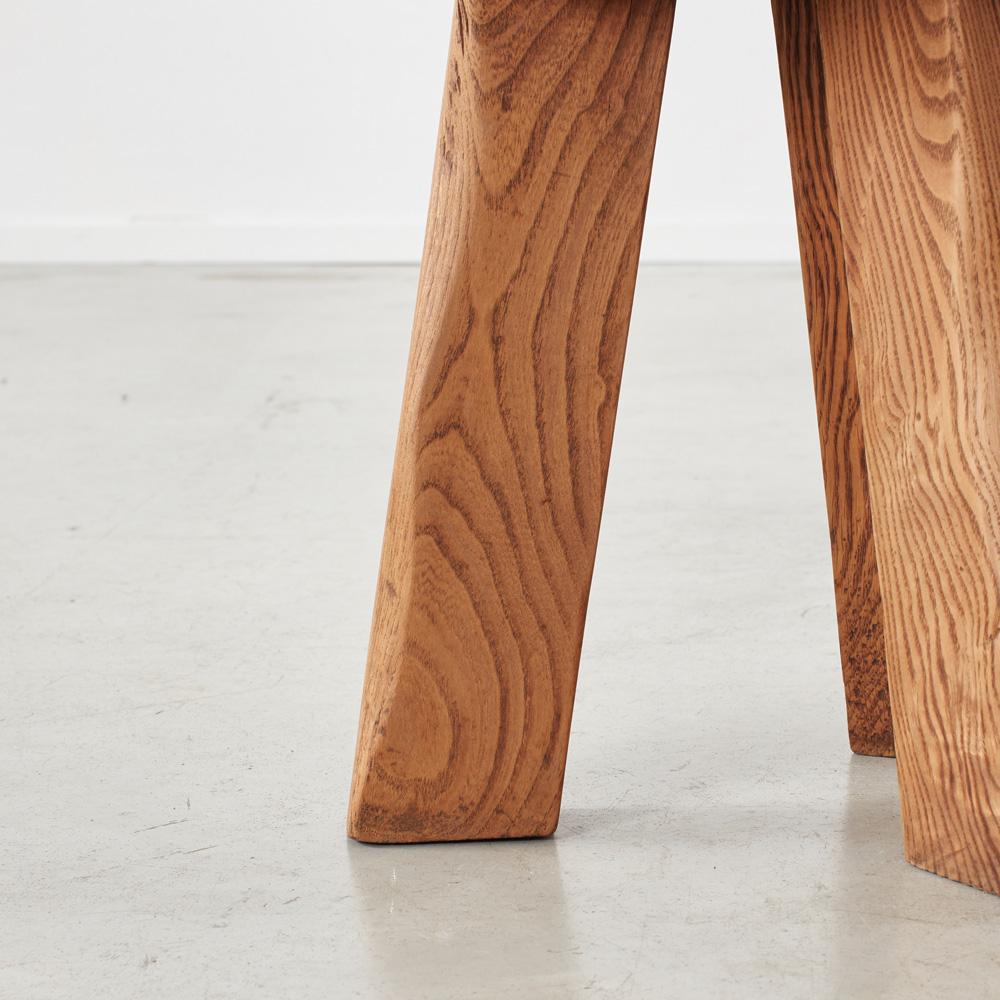 Pair primitivist wooden stools