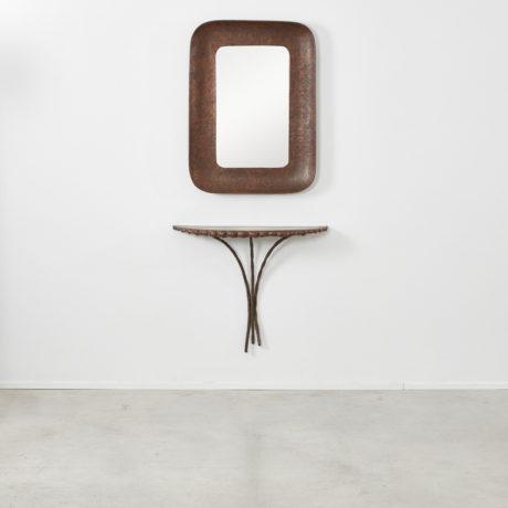 Angelo Bragalini mirror and console set