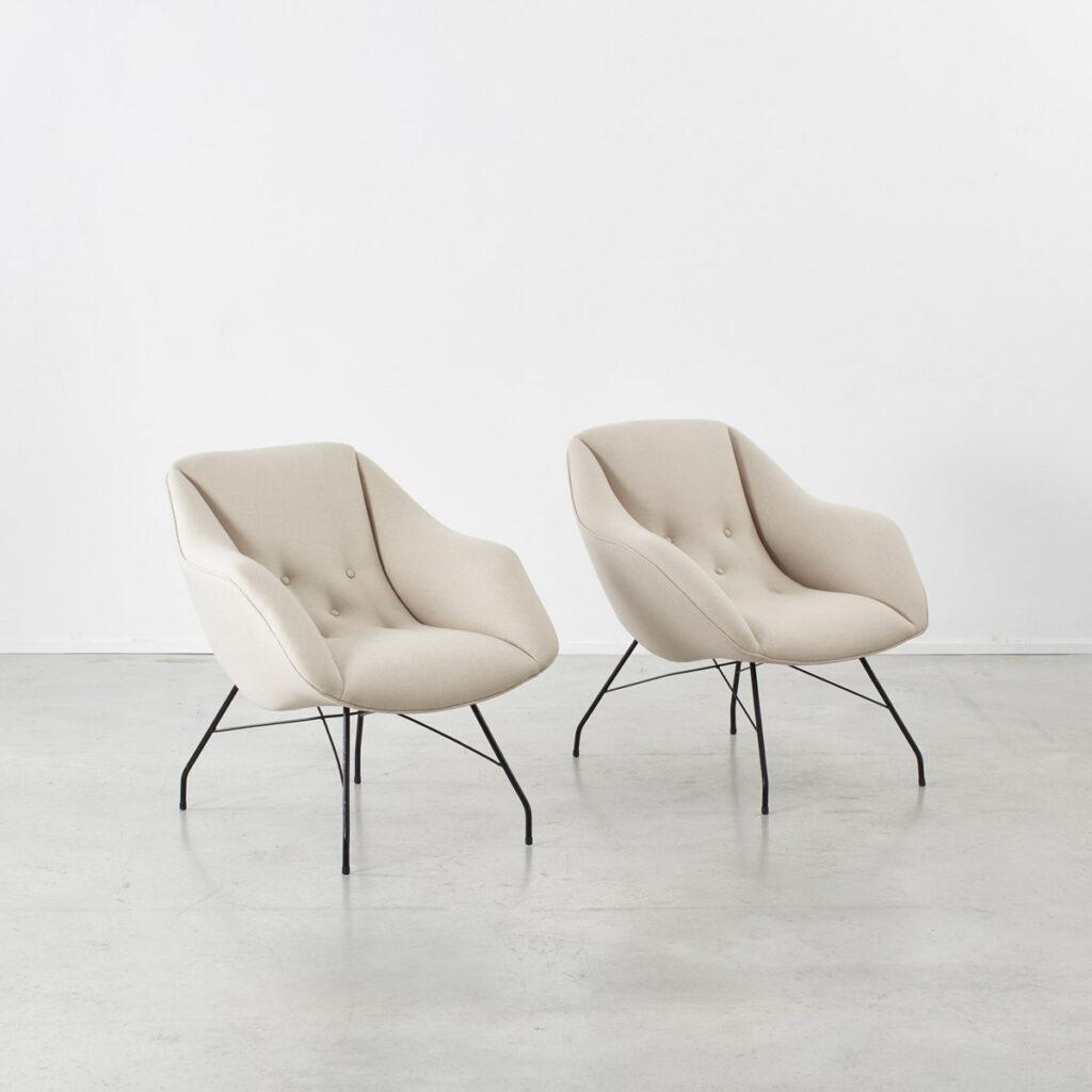 Carlo Hauner Martin Eisler Shell chairs