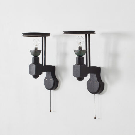Guillerme Chambron ebonised sconces