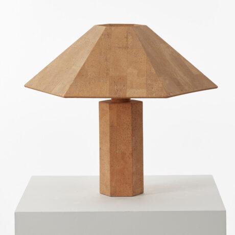 Ingo Maurer Hexagonal cork lamp