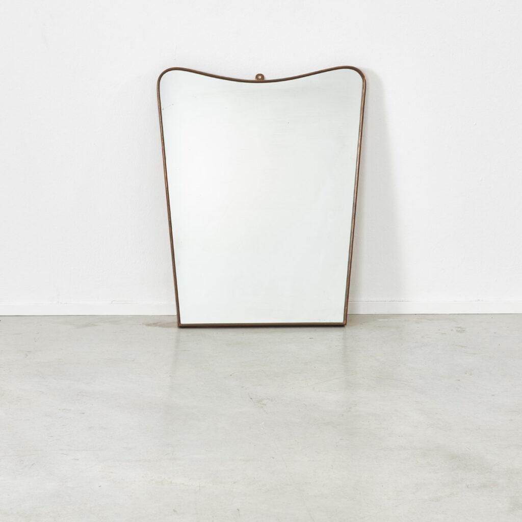 Gio Ponti style Brass mirror