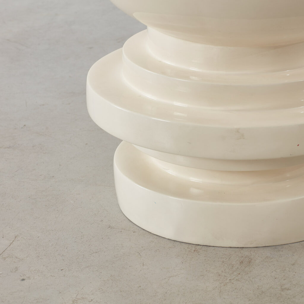 Sculptural fiberglass table