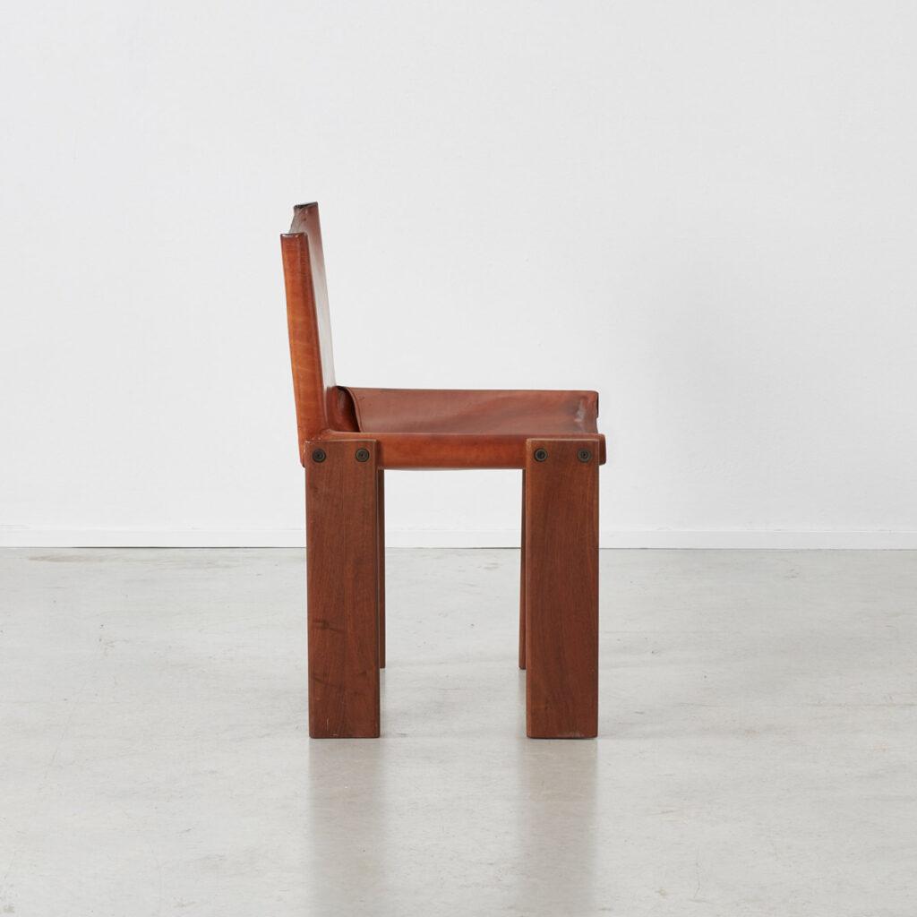 Afra & Tobia Scarpa Monk tan chairs