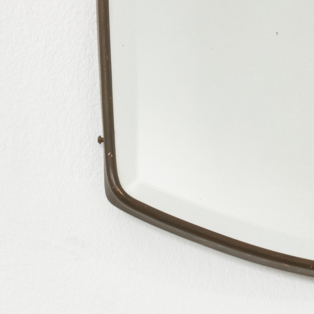 Brass and silvered glass mirror