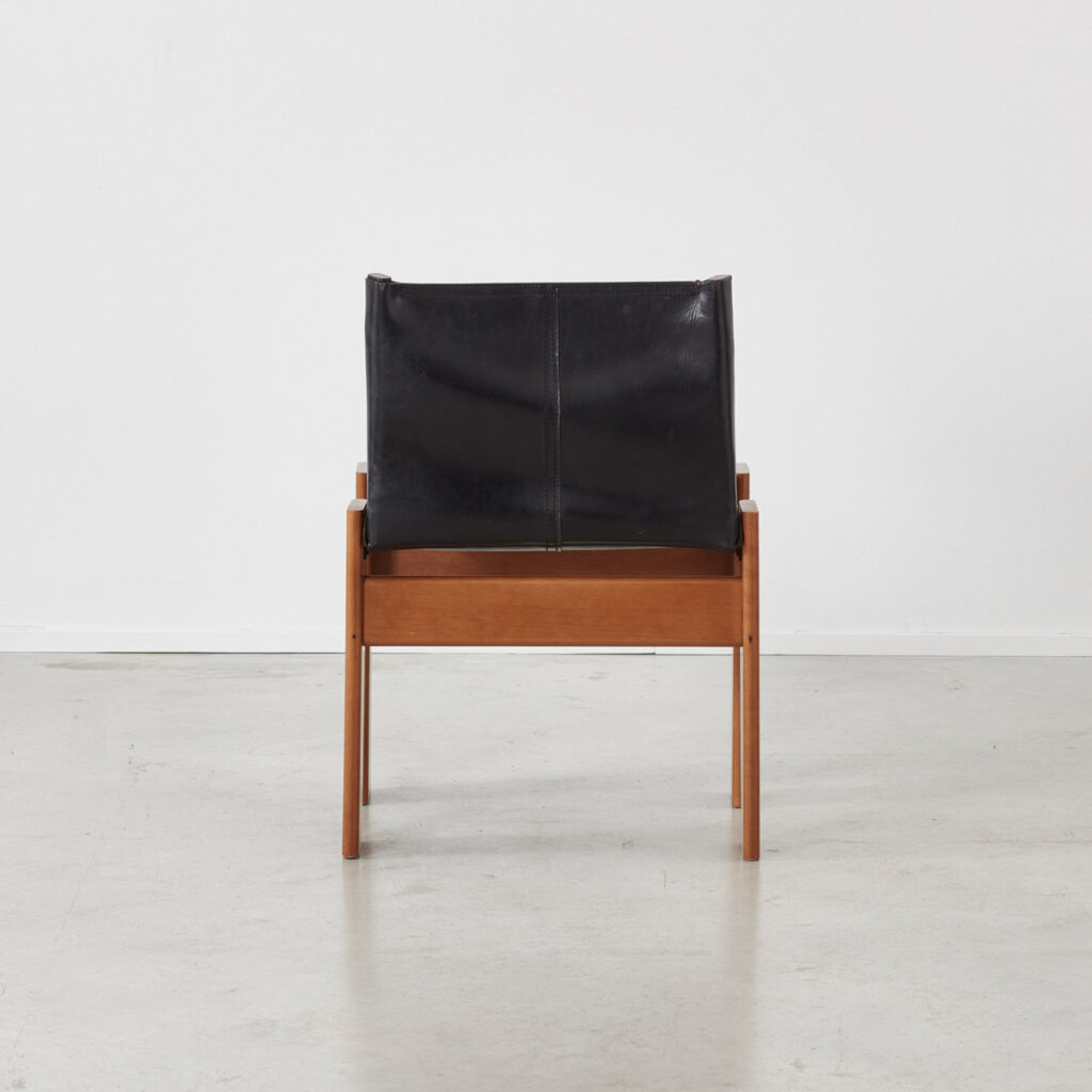 Afra & Tobia Scarpa Monk black chairs