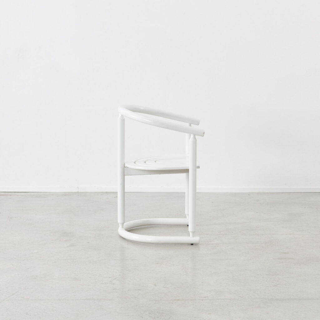 Josef Hoffman style white chairs
