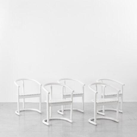 Josef Hoffman style white chairs