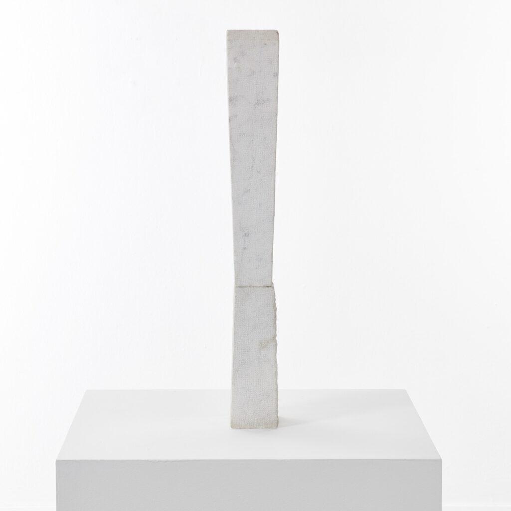 Monolithic marble sculpture