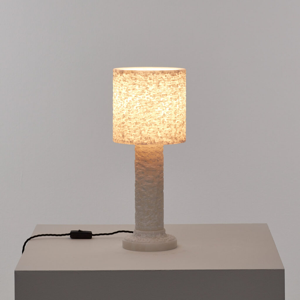 Cylindrical alabaster lamp
