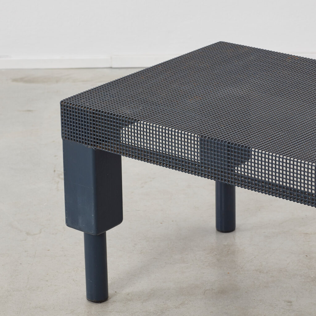 Postmodern blue metal table