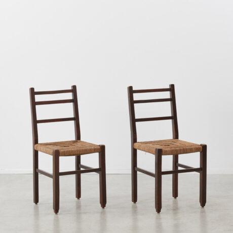 Francis Jourdain rush chairs