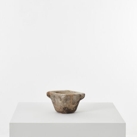 Small antique marble mortar (1)