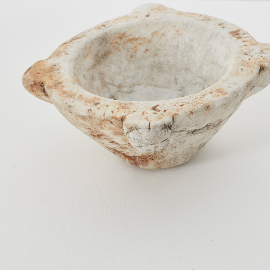 Small antique marble mortar (2)