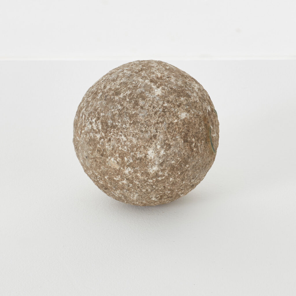 Old stone finial ball ornament