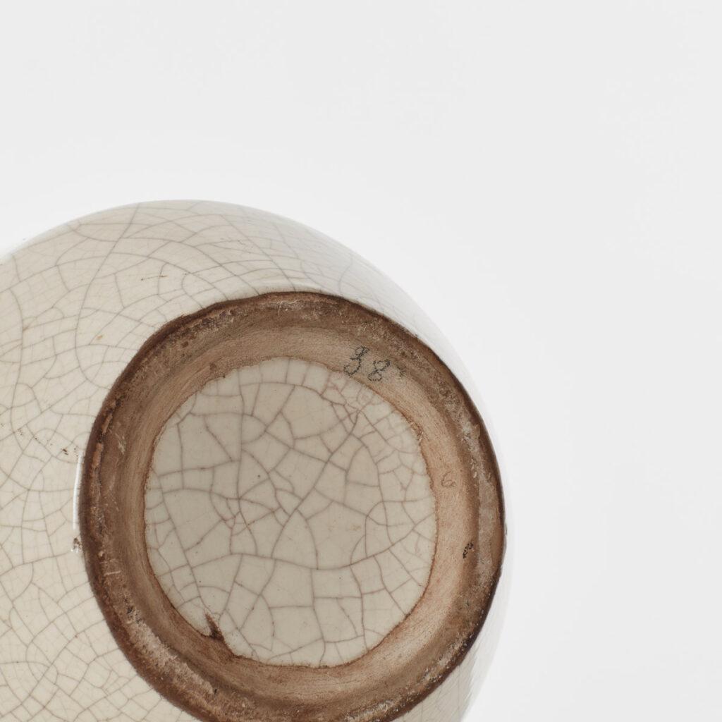 White crackle glaze Art Deco vase