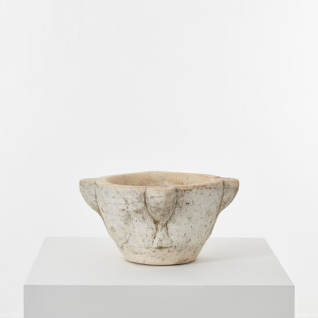 Large antique marble mortar (3)