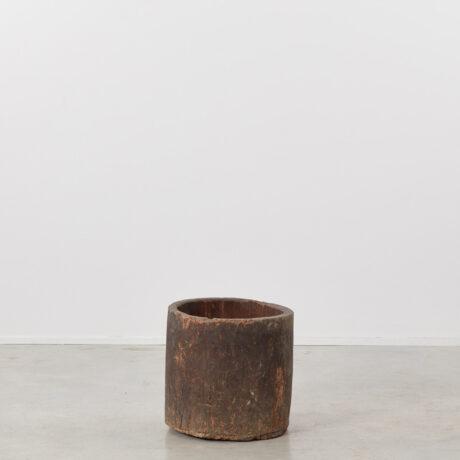Ancient rustic wooden planter