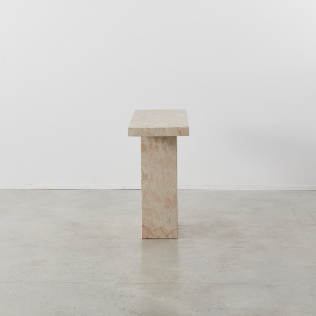 Blush marble console table