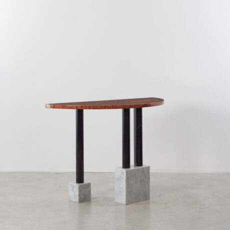 Ettore Sottsass demilune marble console