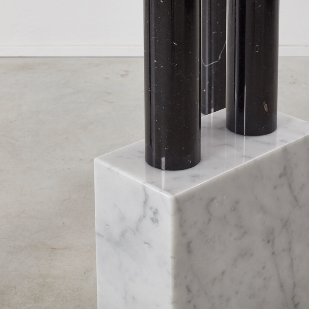 Sottsass demilune marble console