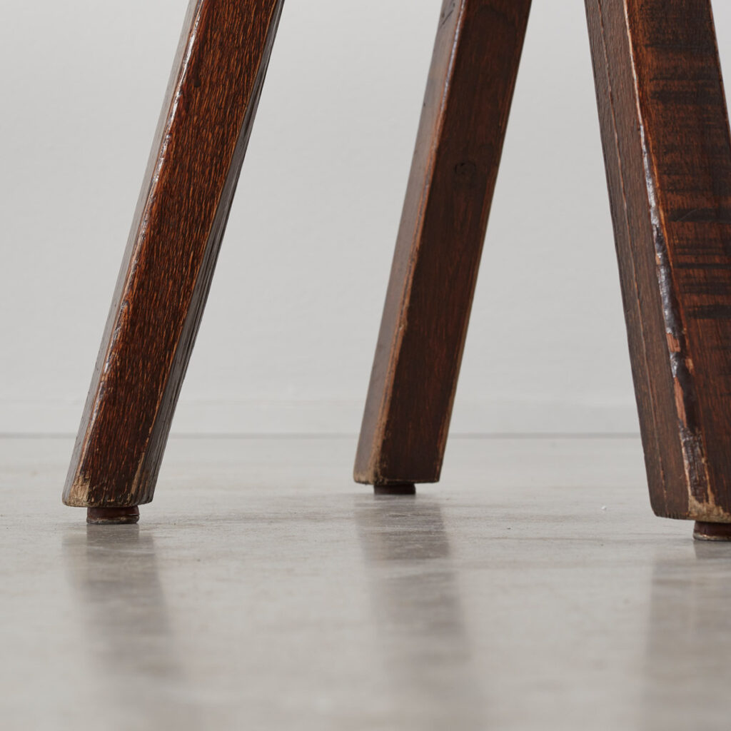 Brutalist table and chairs set