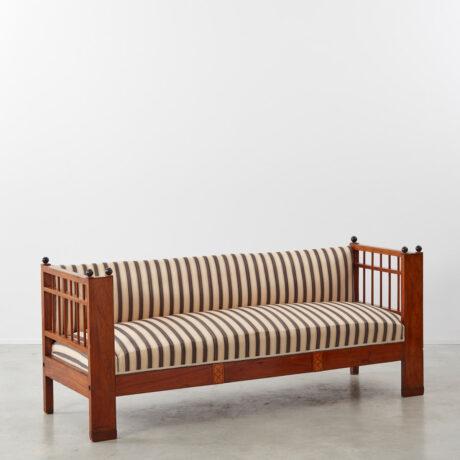 Striped Biedermeier settee