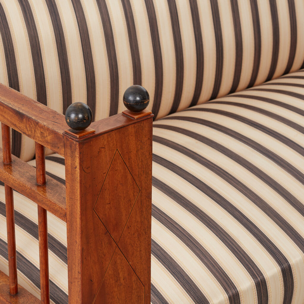 Striped Biedermeier settee