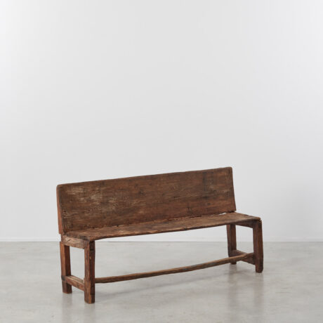 19th century wooden bench