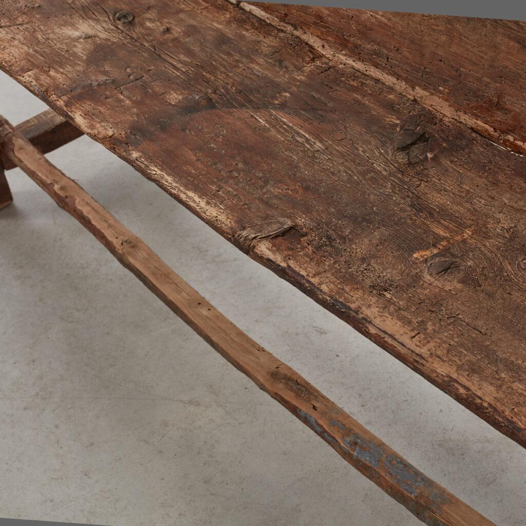 19th century wooden bench