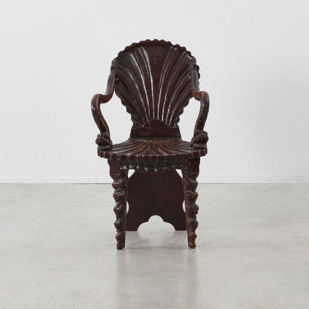 Venetian carved shell chair