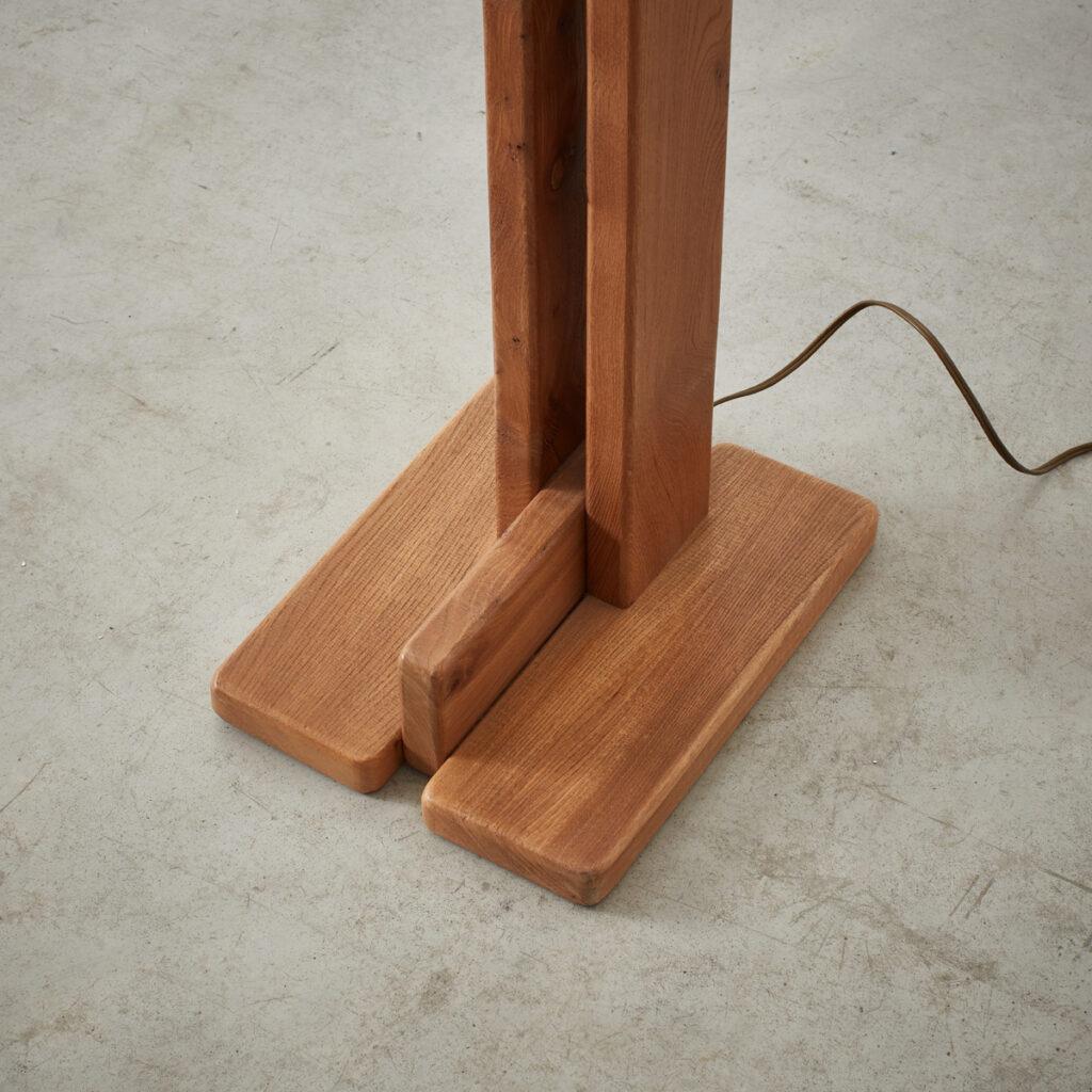 Solid elm floor lamp