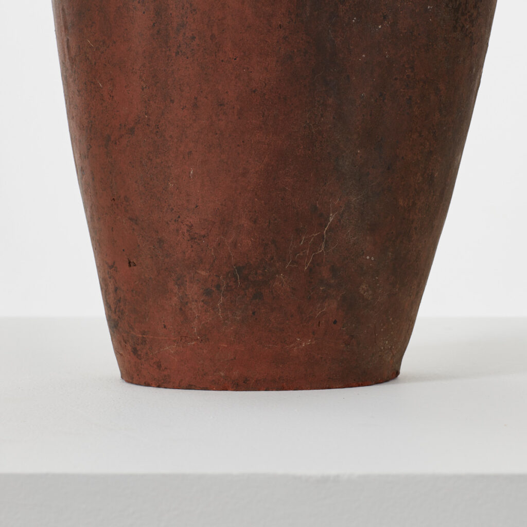 Studio pottery vase in terracotta