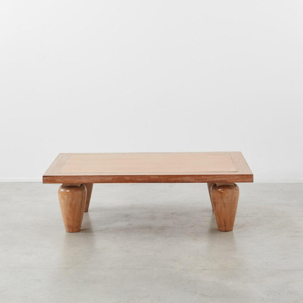 1930s Cerused oak coffee table