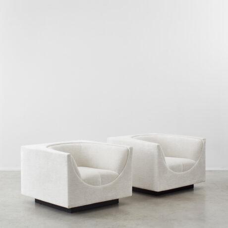 Jorge Zalszupin pair Cubo chairs
