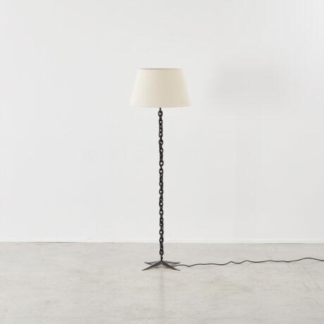Midcentury chain-link floor lamp