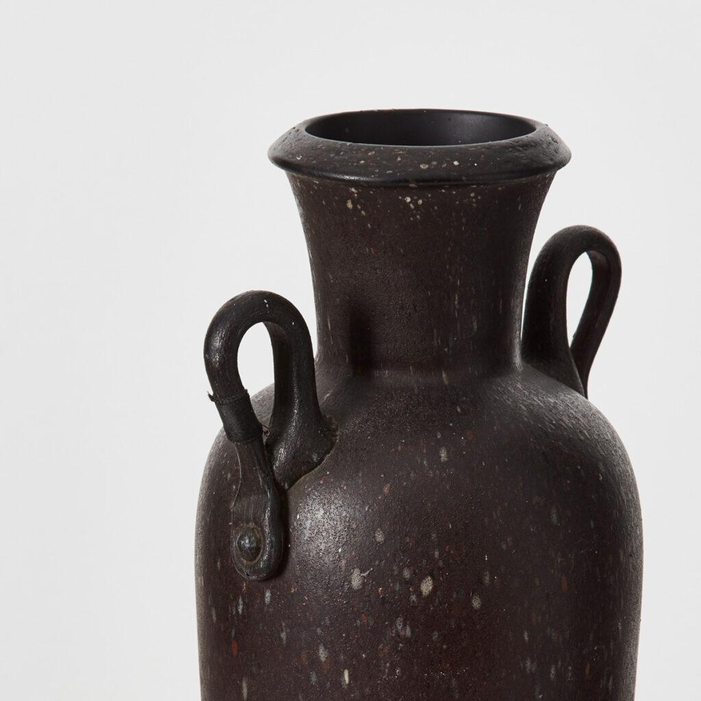 Cimbro Bormioli blown glass vase