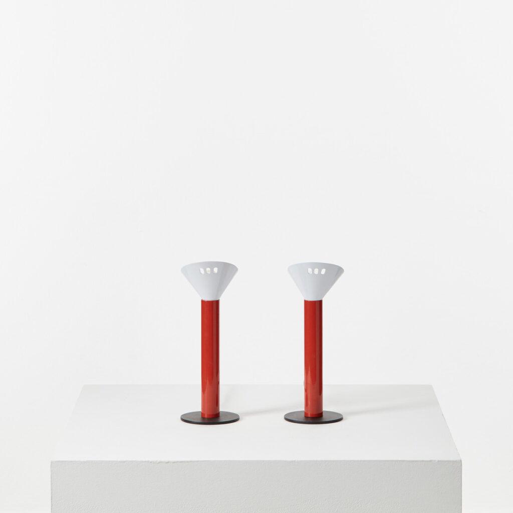 Pair of postmodern table lamps