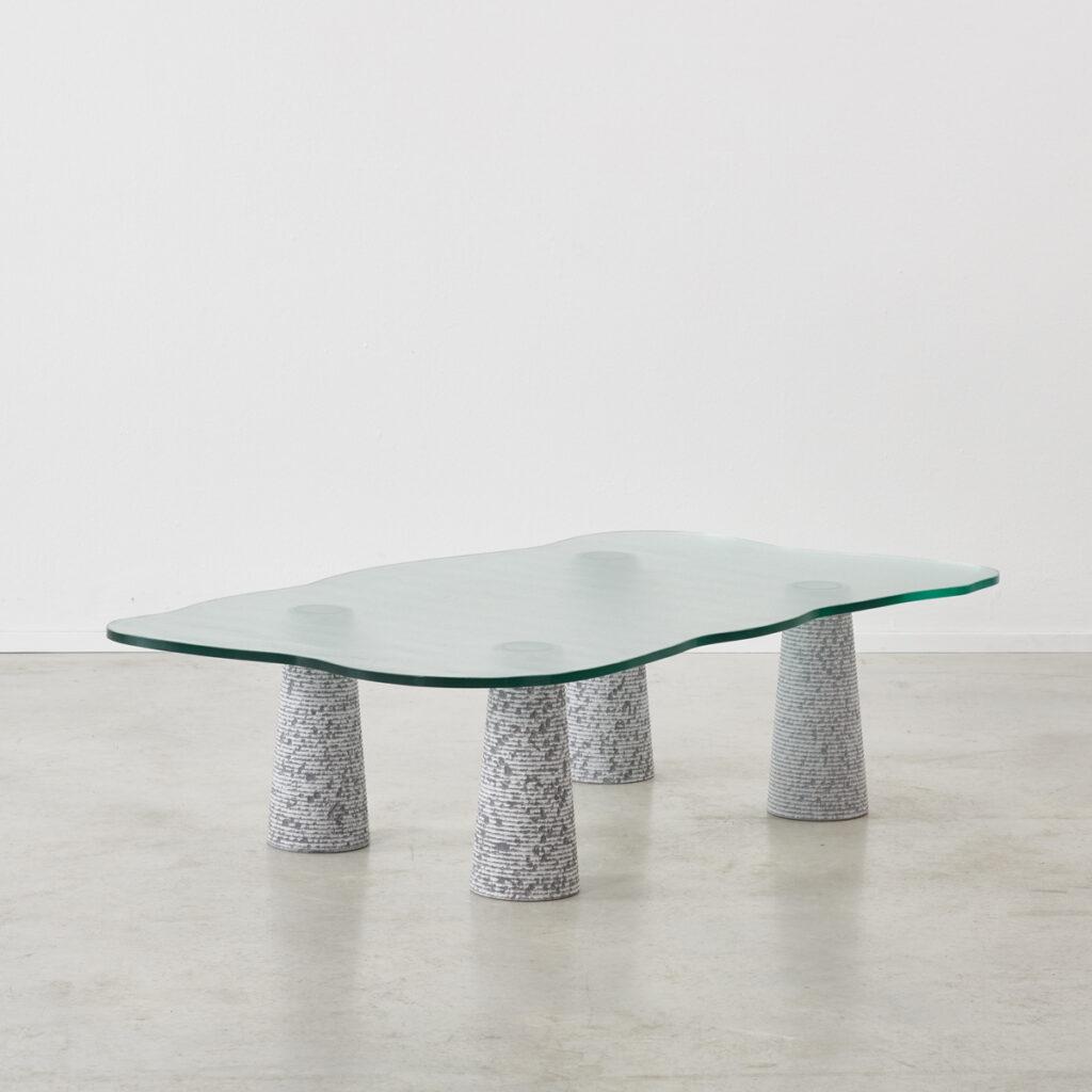 Postmodern coffee table attr Casigliani