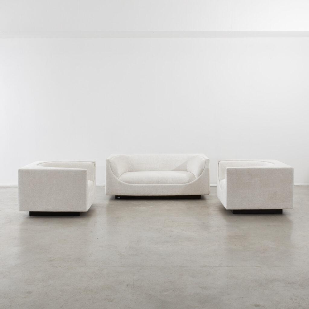 Jorge Zalzupin Cubo two-seater sofa
